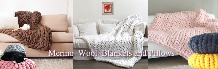 Merino Wool Blankets and Pillows