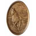 Wooden Relief Running Horse