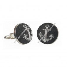 Embroidered Cufflinks Anchor