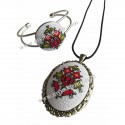 Embroidered Jewellery Flowers Handmade