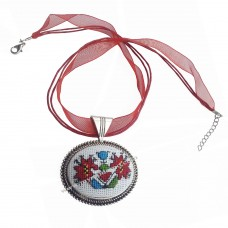 Embroidered Necklace Tree of Life