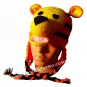 Handmade Knitted Hat for Baby - Tiger
