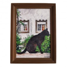 Black Cat Oil Painting